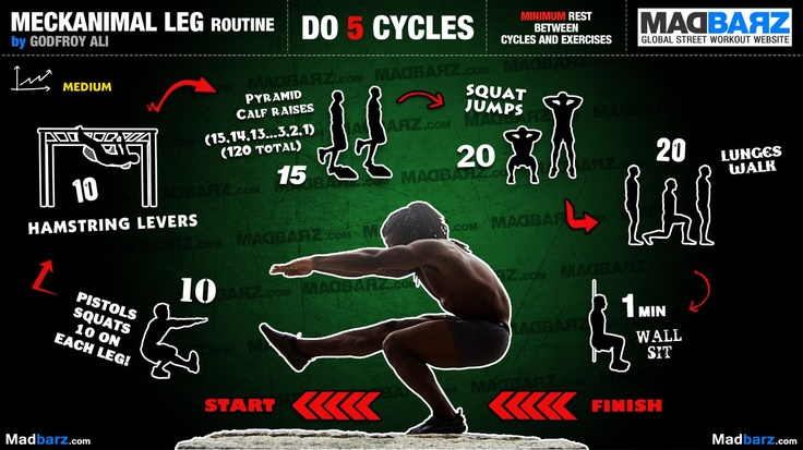 Intermediate Calisthenics Leg Workout