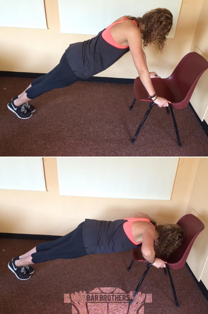 Chair Push Up Bar Sister Routine