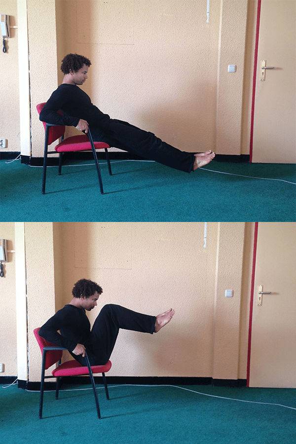 Ab Exercise For Calisthenics With A Chair