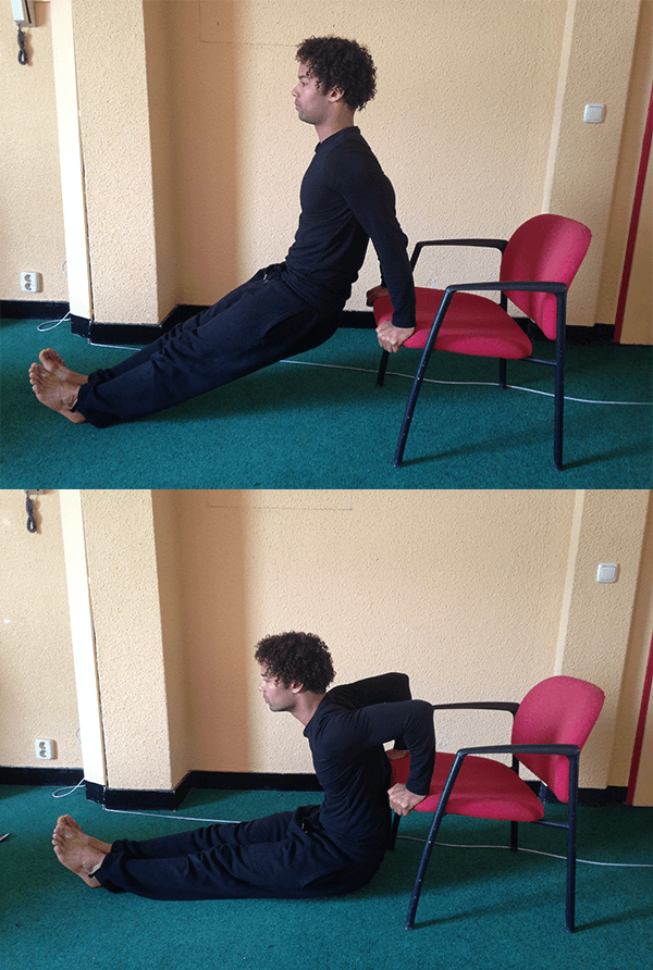 Chair Dip Calisthenic Workout At Home