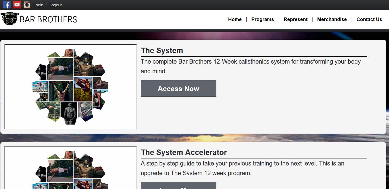 12 week bar brother system