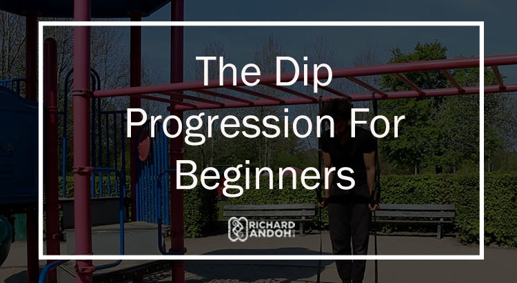 the bar workout to progress to a full dip for beginners