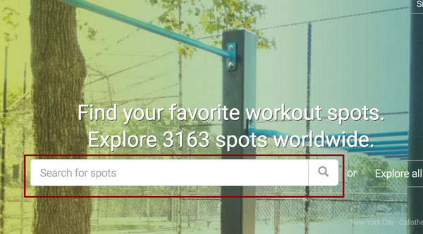 Looking for parks near you? Use This to train!